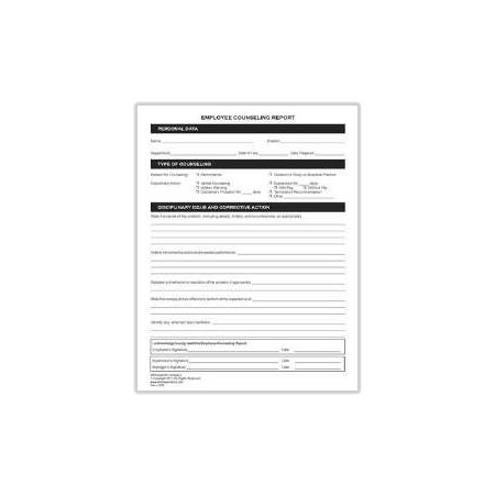 Employee Performance Planning and Review Form 1012 2 Uniform – Employee Counseling Form